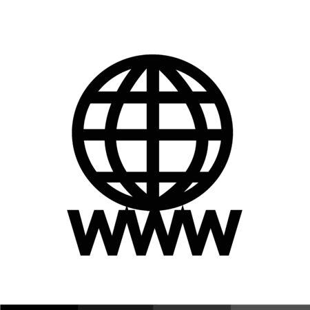 world wide: WWW sign icon, World wide web symbol icon illustration design