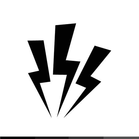 Lightning icon illustration design