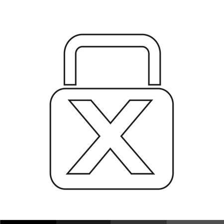 prison system: lock icon illustration design