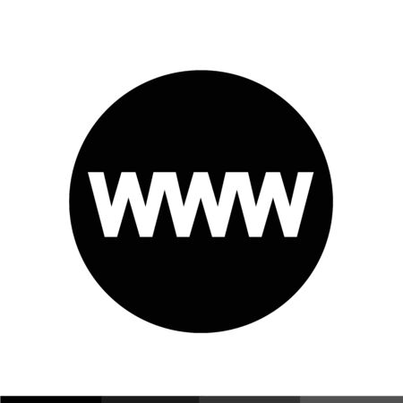 wide: WWW sign icon, World wide web symbol icon illustration design
