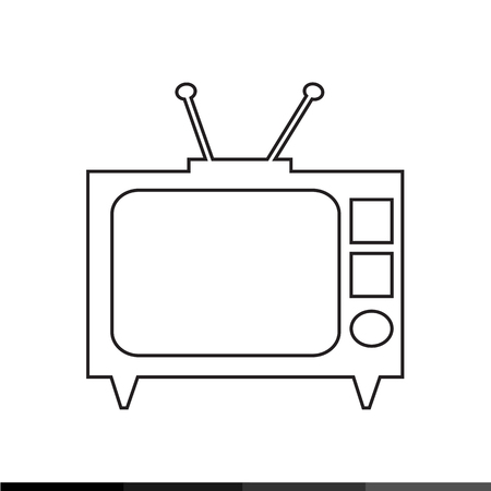 tv icon: TV icon illustration design