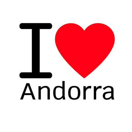 andorra: i love Andorra lettering illustration design with sign Illustration