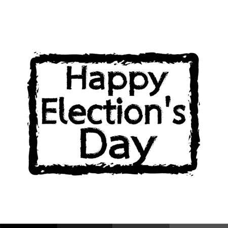 election day: happy Election Day Illustration design Illustration