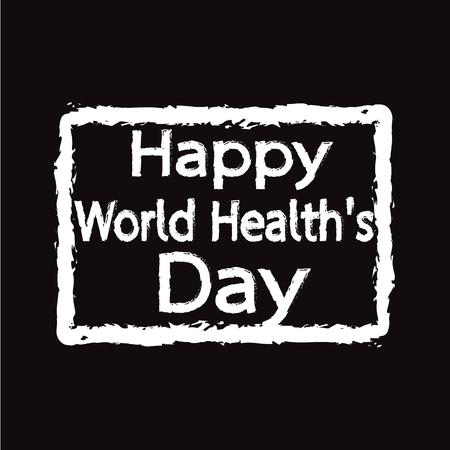 happy world: HAPPY World Health Day Illustration design