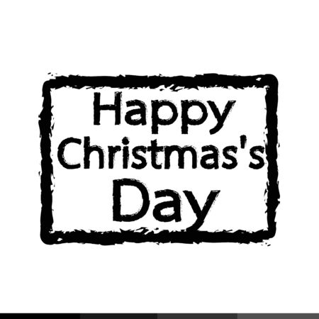 happy christmas: Happy Christmas Day Illustration design