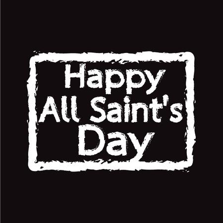 All Saints Day calligraphic typograph Illustration design Illustration