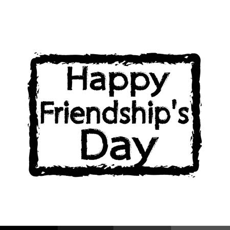 friendship day: happy friendship day Illustration design Illustration