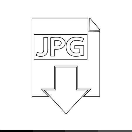 page down: document format icon Illustration design