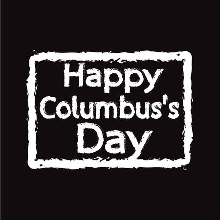 caravelle: conception HEUREUX Illustration Columbus Day