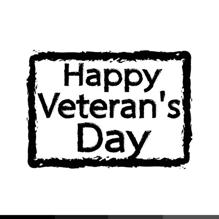 national hero: Grunge rubber stamp text happy Veteran Day Illustration design