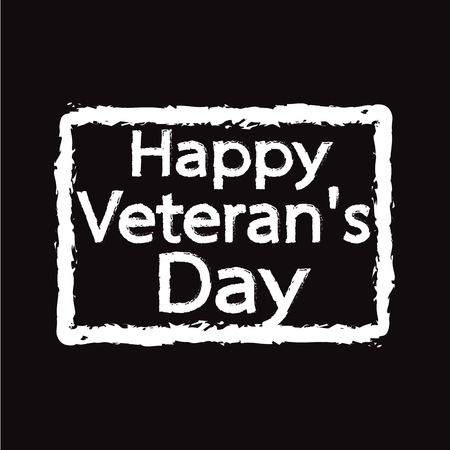 honoring: Grunge rubber stamp text happy Veteran Day Illustration design