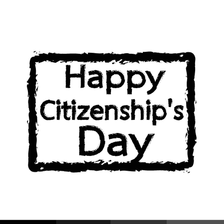 citizenship: HAPPY citizenship Day national holiday of the United States Illustration design