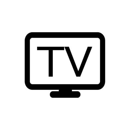 TV de diseño de icono de ilustración