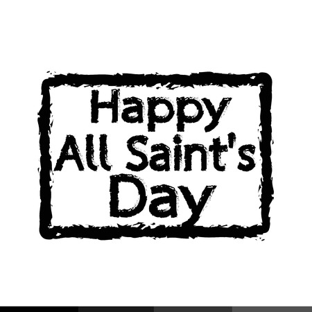 all saints day: All Saints Day calligraphic typograph Illustration design Illustration