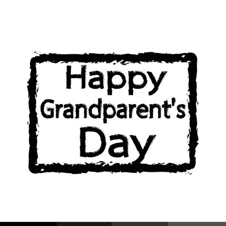 grandparent: HAPPY Grandparent day  Illustration design