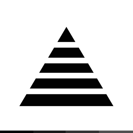 Pyramid Icon Illustration design Vetores