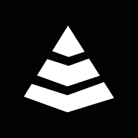 indicate: Pyramid Icon Illustration design