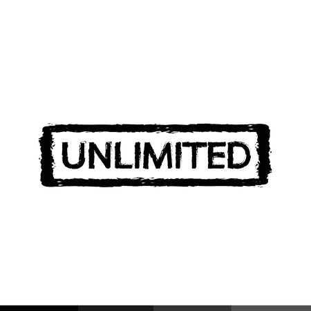 unlimited: Unlimited stamp Illustration design
