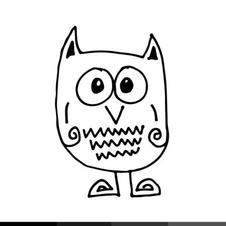 owl illustration: owl Hand draw Illustration design
