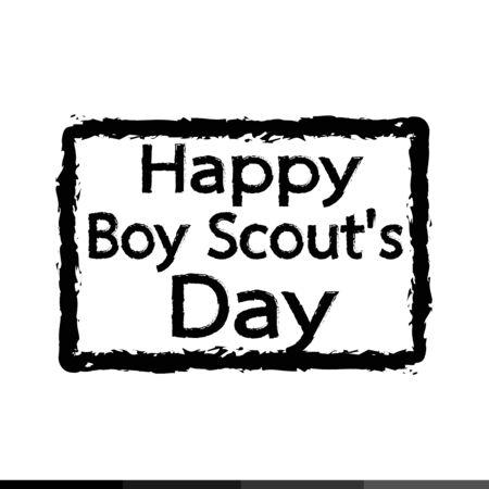 merit: happy boy scout day Illustration design