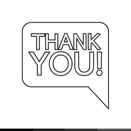 Thank you sign icon Speech bubble Illustration design Illustration