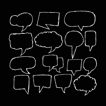 freehand drawing: Freehand drawing speech bubble Illustration design