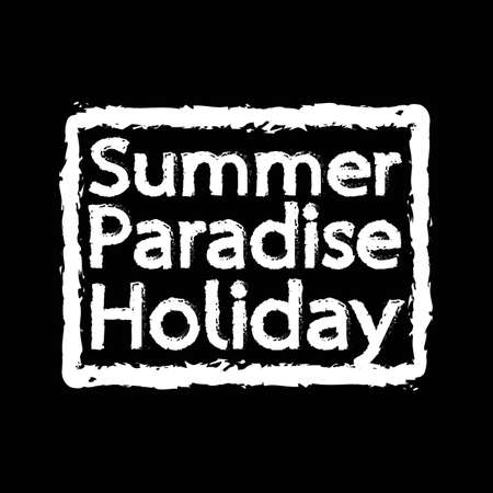 summer holiday: Summer Paradise Holiday typography Illustration design