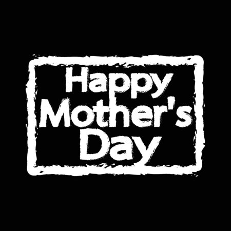 typographical: Happy Motherss Day Typographical Illustration design