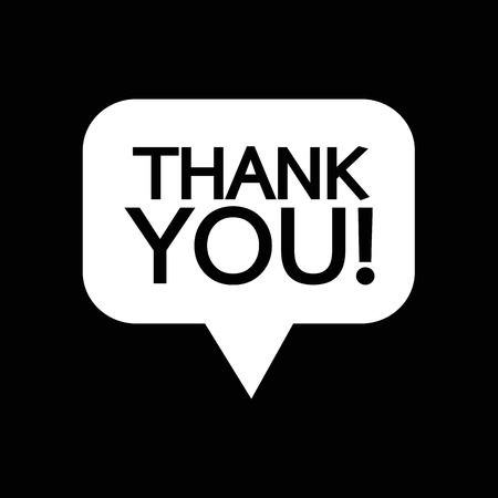 politeness: Thank you sign icon Speech bubble Illustration design Illustration