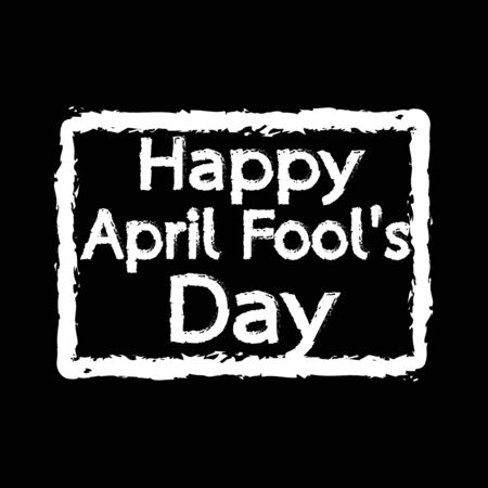 bobo: feliz tonto de abril Día de la ilustración de diseño