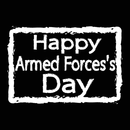forces: Armed Forces Day Illustration design
