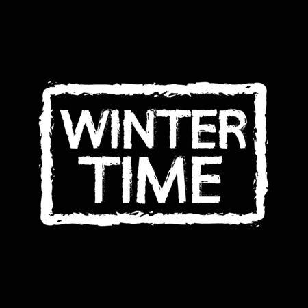 season: winter time season Illustration design