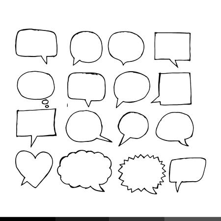says: Speech bubble hand drawing illustration design Illustration