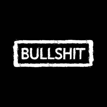 ludicrous: Bullshit stamp Illustration design