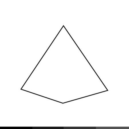 picto: Pyramid Icon Illustration design