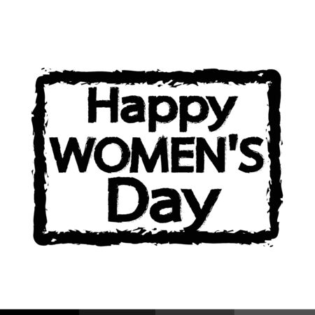 womens: happy womens day Illustration design