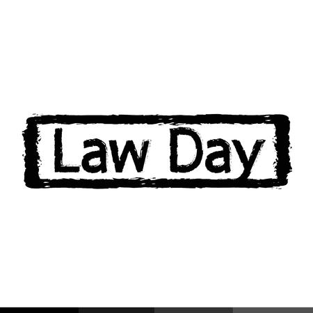 judgement day: law day ,  International Justice Day Illustration design