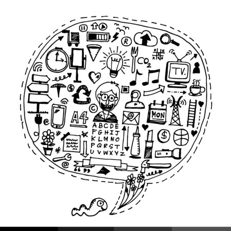 freehand drawing: Freehand drawing Business doodles Illustration design