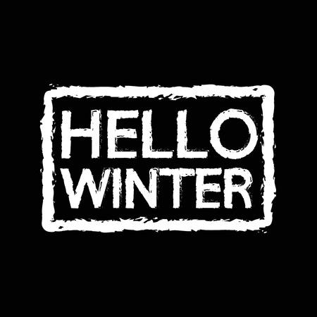 season: hello winter season Illustration design