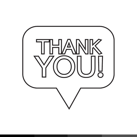 politeness: Thank you sign icon Speech bubble Illustration design Illustration