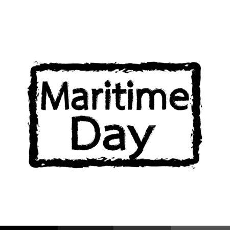 maritime: Maritime Day text Illustration design