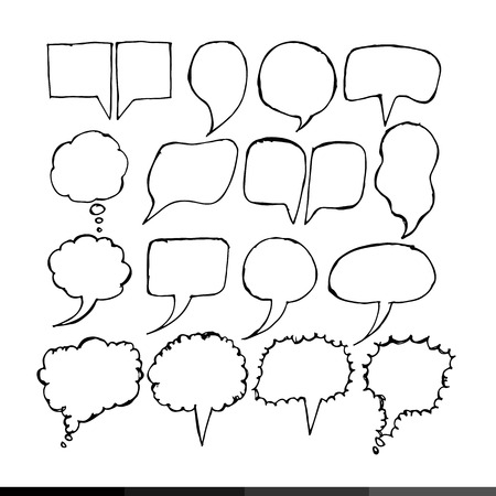 shouting: Speech bubble hand drawing illustration design Illustration