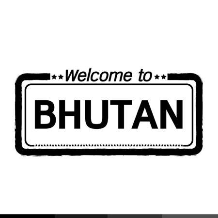 bhutan: Welcome to BHUTAN illustration design Illustration