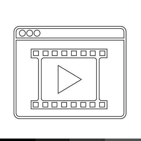 web browser: Web Browser Icon illustration design Illustration