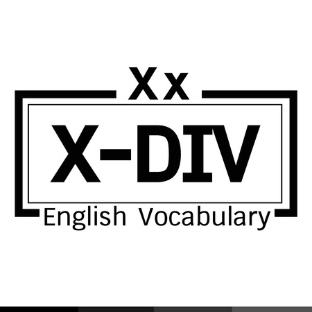 X-DIV english word vocabulary illustration design Banco de Imagens - 59687976