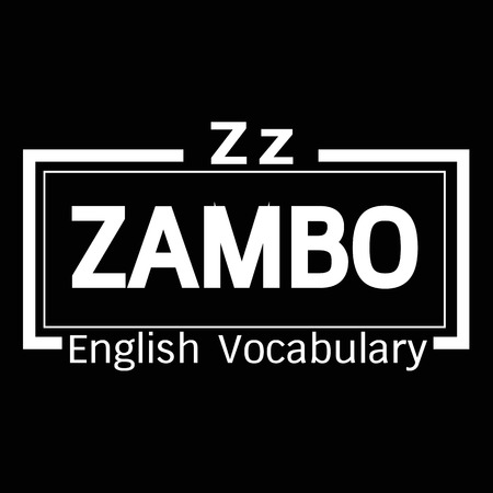 vocabulary: ZAMBO english word vocabulary illustration design