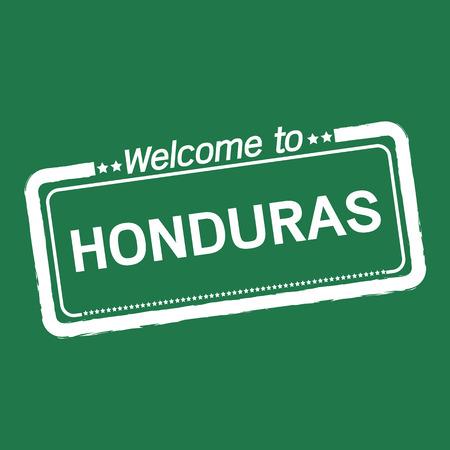 honduras: Welcome to HONDURAS illustration design