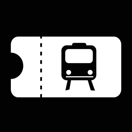 train ticket: Train ticket icon illustration design