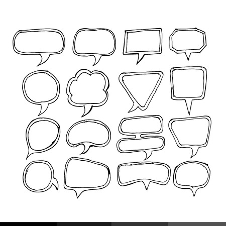 children s art: Speech bubble hand drawing illustration design Illustration