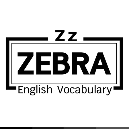 vocabulary: ZEBRA english word vocabulary illustration design